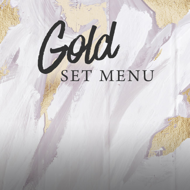 Gold set menu at The Pheasant