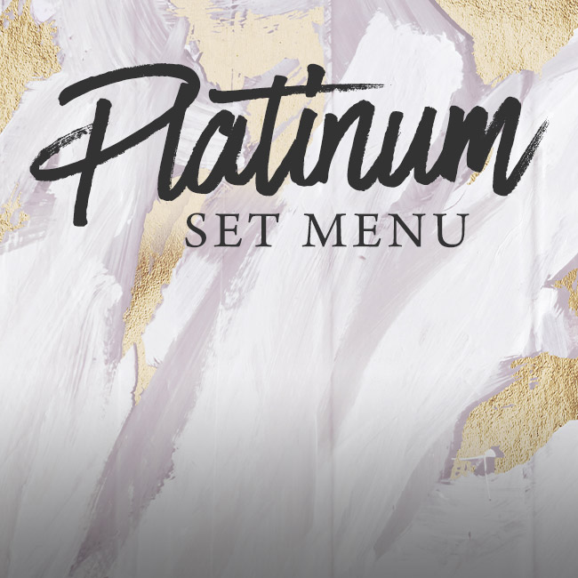 Platinum set menu at The Pheasant