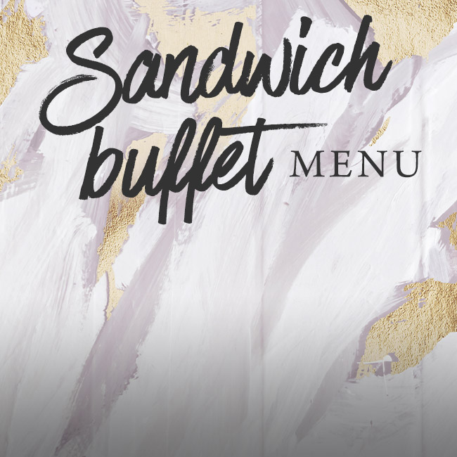 Sandwich buffet menu at The Pheasant