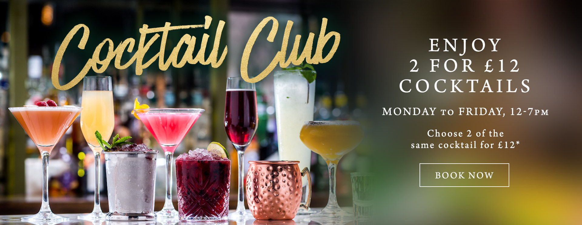 2 for £12 cocktails at The Pheasant